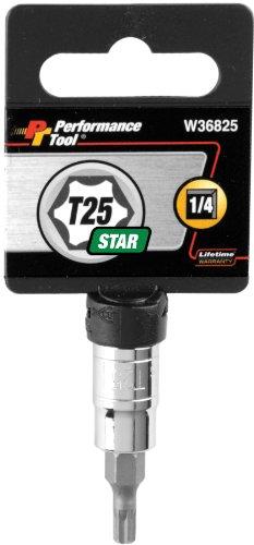 Performance Tool W36825 Star Bit Socket 14 Drive