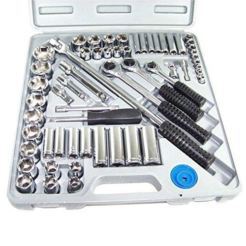 60 Pc 14 3812 Drive Combination Socket Set Sae