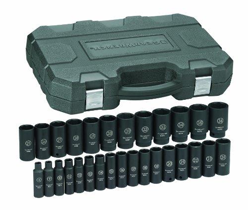 GearWrench 84935 12-Inch Drive Impact Socket Set Deep Metric 29-Piece