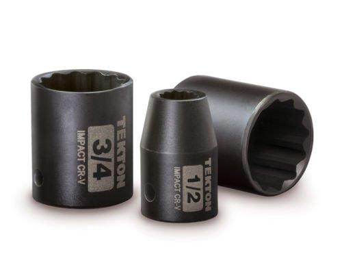 New Hand Tools 28Pc 12 Drive 12-Point Shallow Impact Socket Set SAEMETRIC