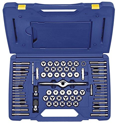 IRWIN Tap And Die Set MachineFractionalMetric Plug Tap and 1-Inch Hex Die 75-Piece 1813816