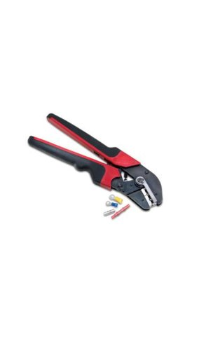 Burndy MRE10-22NV No10 and No22 Nylon and Vinyl Insulated Terminals and Splices Hytool Ergonomic Full Cycle Ratchet Hand Tool
