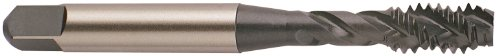 YG-1 F4 Series Vanadium Alloy HSS Spiral Flute Tap Steam Oxide Round Shank with Square End Bottoming Chamfer 58-11 Thread Size H3 Tolerance