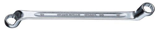 Stahlwille 20-21X24 Steel Offset Double Ended Ring Spanner 21mm x 24mm Diameter 330mm Length 347mm Width