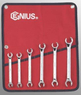 Genius Tools FN-006M Metric Flare Nut Wrench Set 6-Piece