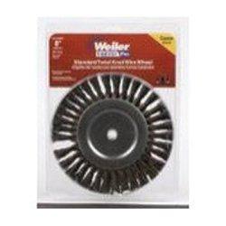 Weiler Brush WEI36028 Bench Grinder Wire Wheel 8 Diameter Coarse Knotted Wire Wide Face 58 Arbor