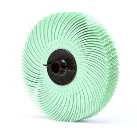 3M Scotch-Brite Radial Bristle Disc Thin Bristle 3 x 38 Ceramic M1 Grit - Pkg Qty 80 Sold in packages of 80