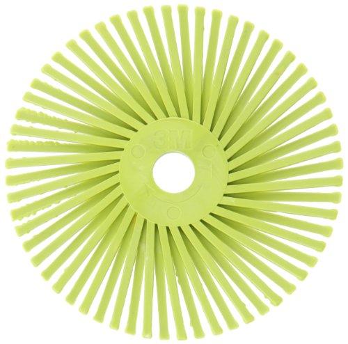 Scotch-BriteTM Radial Bristle Disc 25000 rpm 3 Diameter 360 Grit Lime Green Pack of 10