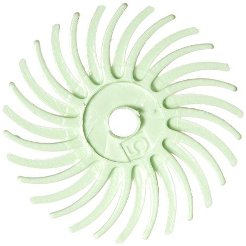 Scotch-BriteTM Radial Bristle Disc 30000 rpm 916 Diameter Polish 1 Grit Light Green Pack of 48