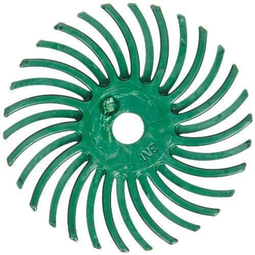 Scotch-BriteTM Radial Bristle Disc 35000 rpm 1 Diameter 50 Grit Green Pack of 24 by Scotch-Brite