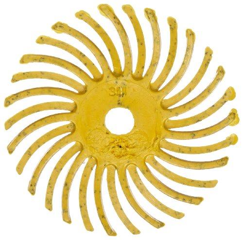 Scotch-BriteTM Radial Bristle Disc 35000 rpm 1 Diameter 80 Grit Yellow Pack of 24