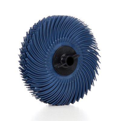 Scotch-BriteTM Radial Bristle Disc Thin Bristle 3 in x 38 in 400 80 per case
