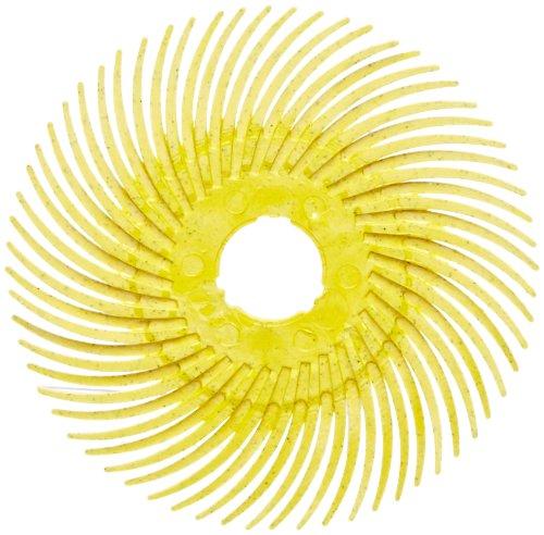 Scotch-BriteTM Radial Bristle Disc Thin Bristle Cubitron Grain 20000 rpm 3 Diameter 80 Grit Yellow Pack of 40