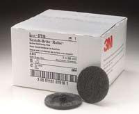 3M 7516 2 Scotch Brite Roloc Surface Conditioning Discs Super Fine Gray - 25 Per Box