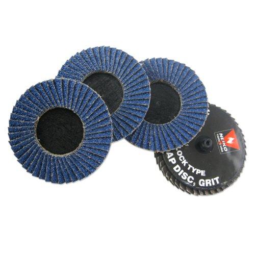 Neiko Roloc Type 2-Inch Flap Disc Zirconia 120 Grit 10 Pieces