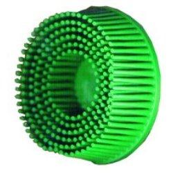 3M MMM7524 2 Scotch-Brite Roloc Bristle Discs 50 Grit Coarse Green