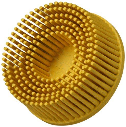 Scotch-BriteTM RolocTM Bristle Disc Ceramic 25000 rpm 2 Diameter 80 Grit Yellow Pack of 10