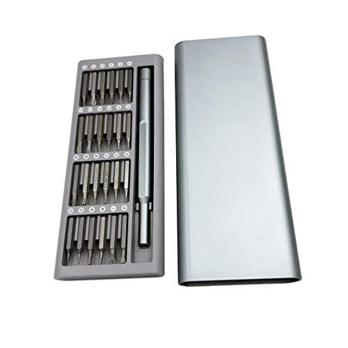 HEMOBLLO 25 in 1 Precision Screwdriver Set with Aluminum Storage Box Multi-function Combination Screwdriver Set Professional Repair Tool Kit for Phone Clock