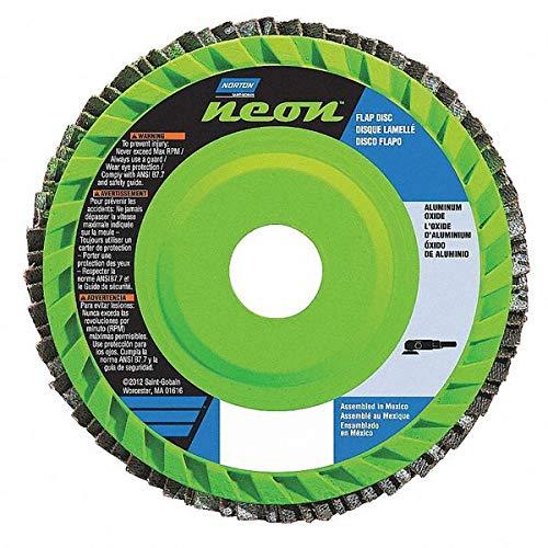 10PK Norton Gemini R766 4-12 in x 78 in 40 Grit Type 27 Flap Disc Aluminum Oxide Quick Trim Plastic  66623399004
