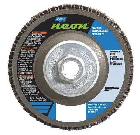 10PK Norton Gemini R766 4-12 in x 78 in 60 Grit Type 27 Flap Disc Fiberglass Aluminum Oxide  66623399064