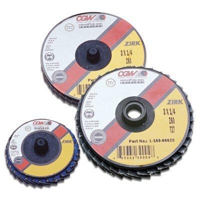 2 Roloc-type T27 Zir Reg 120 Grit Flap Disc 421-30006 Category Coated Flap Disc Abrasives