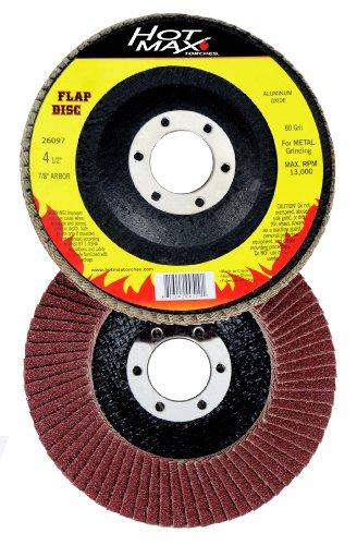 Hot Max 26097 4 12-Inch 80 Grit Flap Disc 78-Inch Arbor Aluminum Oxide Type 29