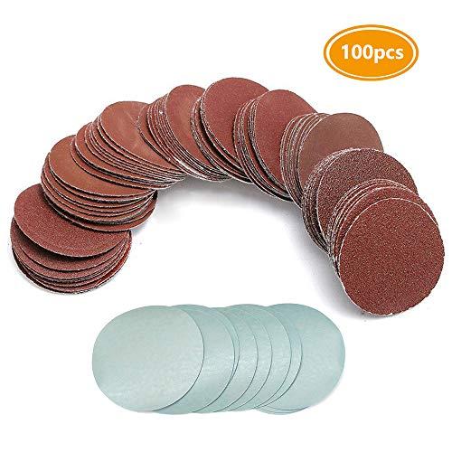 Saiper 3 Inch 100pcs Sanding Discs Hoop and Loop Sandpaper Sander Disk Polishing Pad Set 80-3000 Grit10 of Each Type