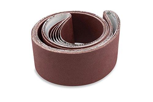 Red Label Abrasives 2 X 48 Inch 400 Grit Flexible Aluminum Oxide Multipurpose Sanding Belts 6 Pack
