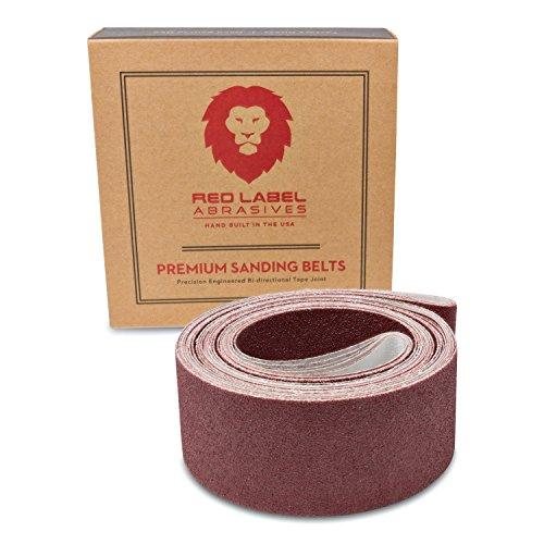 Red Label Abrasives 2 X 72 Inch 60 Grit Flexible Aluminum Oxide Multipurpose Sanding Belts 6 Pack