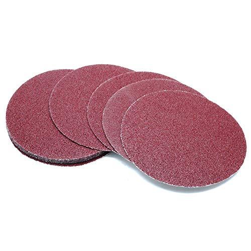 Yoohey 10pcs 5 Inch Sanding Discs Pad Hook and Loop 40 Grits Sandpapers