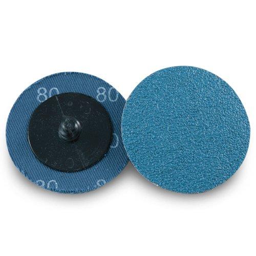 2 Roloc Zirconia Quick Change Sanding Discs 80 Grit - 25 Pack