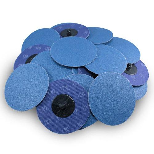 3 Roloc Zirconia Quick Change Sanding Discs 120 Grit - 25 Pack