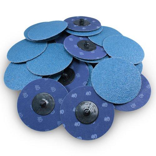 3 Roloc Zirconia Quick Change Sanding Discs 40 Grit - 25 Pack