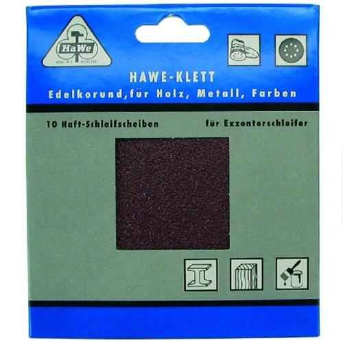 HaWe Hawera - 10 sanding discs for orbital sander - 115mm - 80 grit