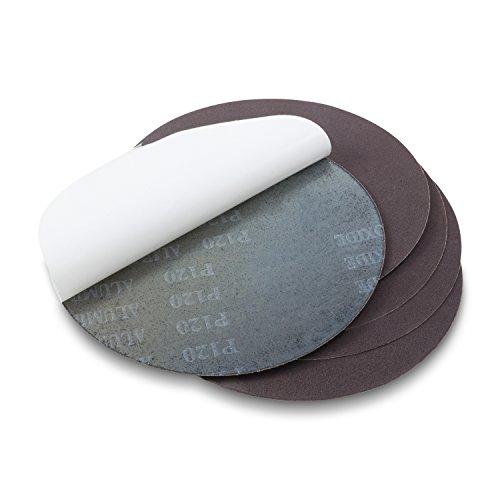 Red Label Abrasives 10 Inch 320 Grit Adhesive Back Aluminum Oxide metal Sanding Disc 5 Pack