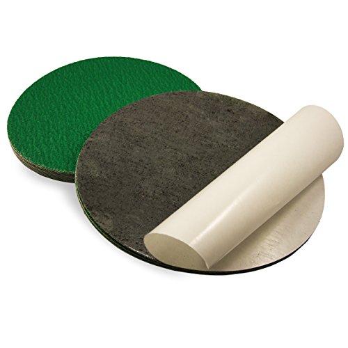 Red Label Abrasives 10 Inch 36 Grit Adhesive Back Metal Grinding Zirconia Sanding Discs 5 Pack