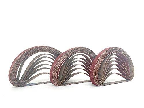 38 Inch X 13 Inch Aluminum Oxide Cloth Sanding Air File Belts30 Pack 60 Grit