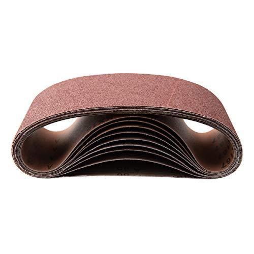 POWERTEC 110110 4 x 36 Inch Sanding Belts  120 Grit Aluminum Oxide Sanding Belt  Premium Sandpaper - 10 Pack