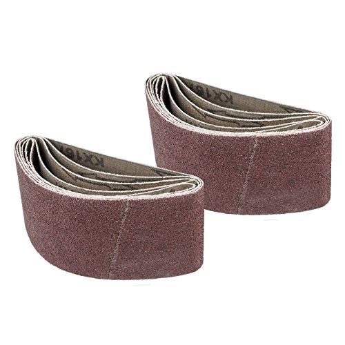 POWERTEC 401408 2-12-Inch x 14-Inch 80 Grit Aluminum Oxide Sanding Belt 10-Pack