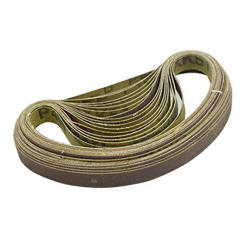 Sydien 039x13 Inch 400 Grit Aluminum Oxide Grinding Sanding Belts 20Pcs