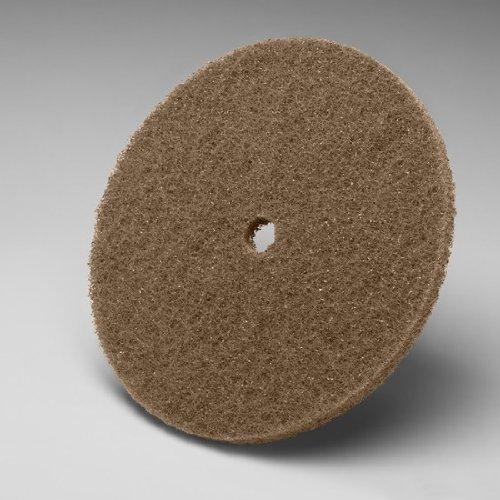 3M Scotch-Brite CP-DC Aluminum Oxide Deburring Disc - Medium Grade - Arbor Attachment - 9 in Dia 1 in Center Hole - 2500 Max RPM - 09102 PRICE is per CASE