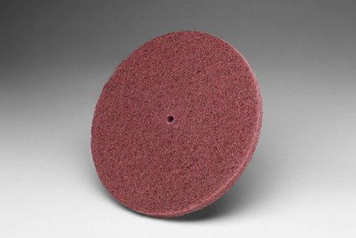 3M Scotch-Brite HS-DC Aluminum Oxide Deburring Disc - Medium Grade - Arbor Attachment - 5 in Dia 14 in Center Hole - 5000 Max RPM - 16019 PRICE is per CASE