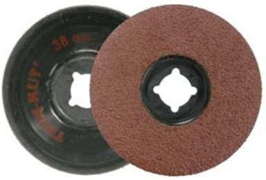 Weiler Aluminum Oxide Deburring Disc - Medium Grade - Arbor Attachment - 4 12 in Dia 78 in Center Hole - 13000 Max RPM - 59404 PRICE is per DISC