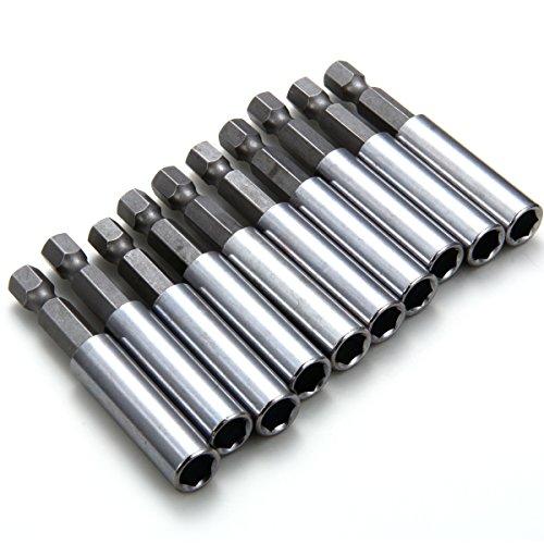 XCSOURCE 10pcs Magnetic Extension Socket Drill Bit Holder 14 Hex Power Tools