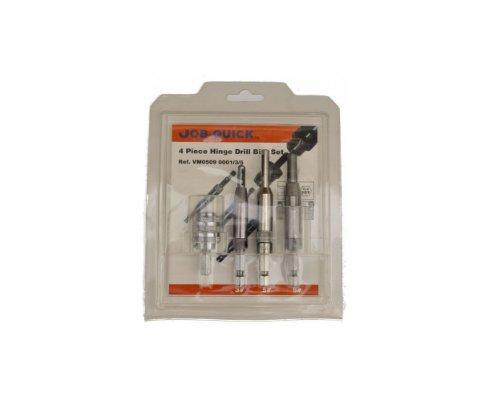 Hinge Drill Bit Set - SHK Hex  4 Piece