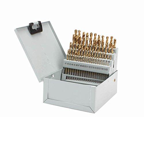 60 Pc Titanium Nitride Coated High Speed Steel Numbered Drill Bit Set