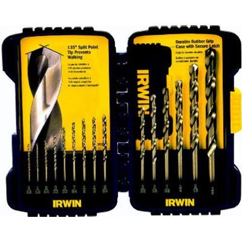 Irwin Industrial Tools 316015 Cobalt Drill Bit Set 15-Piece