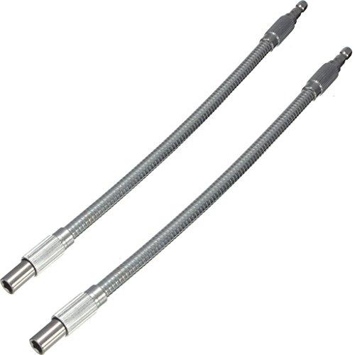 1Pc2Pcs 14 Silver Hex Flex Flexible Hose Screwdriver Extension Bit Holder 300mm