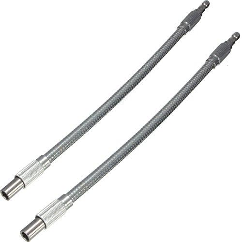 30cm 14 Silver Hex Flex Flexible Hose Screwdriver Extension Bit Holder 1Pc2Pcs