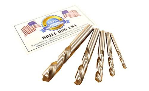 Drill Hog USA 5 Pc Left Handed Drill Bit Set Niobium Nb41
